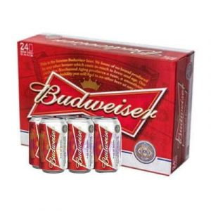 budweiser beer 24 cans
