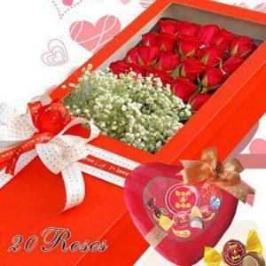 Christmas Flowers And Chocolate 05
