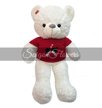 white teddy bear gifts 2