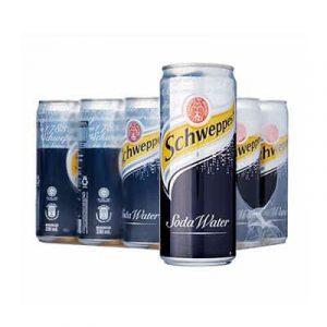 schweppes soda water 24 lon
