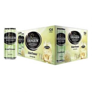 strongbow apple ciders elderflower cans