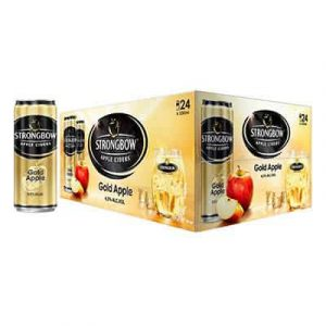 strongbow apple ciders gold apple cans