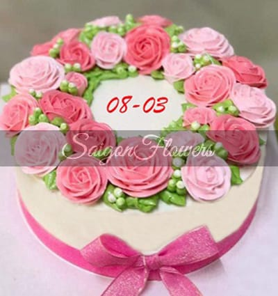 Enjoyable Cakes Women Day 8 Send Cakes To Vietnam Delivery Cake In Vietnam Funny Birthday Cards Online Fluifree Goldxyz