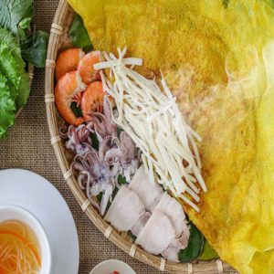 Banh Xeo Co Hu Dua Nhan Tom Thit