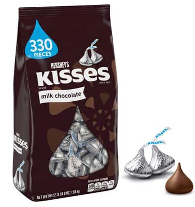 chocolate hersheys kisses milk