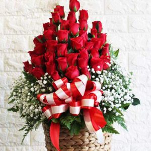 Basket Christmas Roses 01