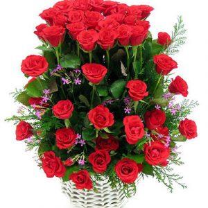 Basket Christmas Roses 02