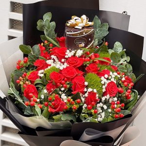 Special Christmas Flowers And Chocolate 02