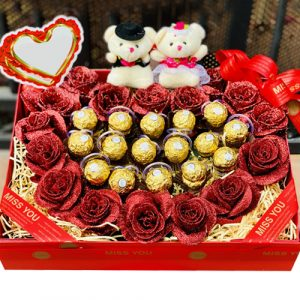 Special Artificial Roses And Chocolate 3/8 02